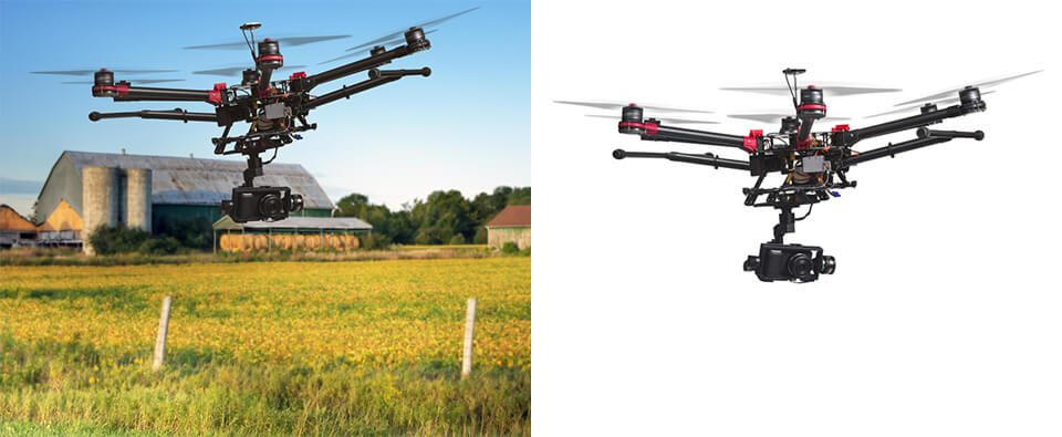 Drone Photo Background Removal Service