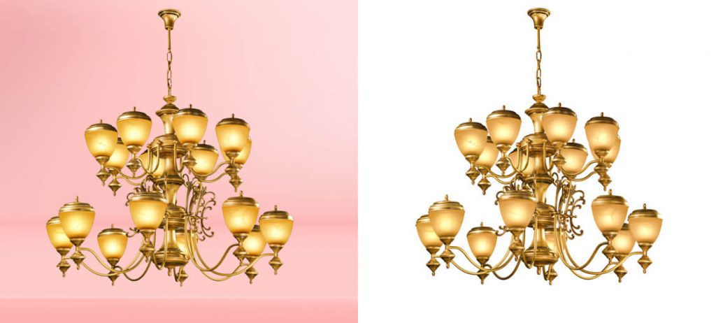 Chandelier Light Clipping Path Service