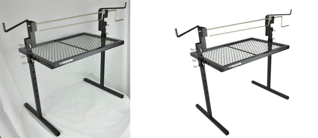 Before and after product image clipping path