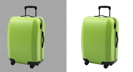 travel bag photo clipping path service