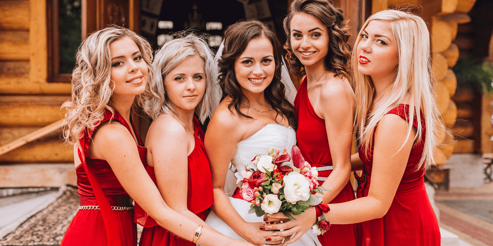 wedding group image color correction service