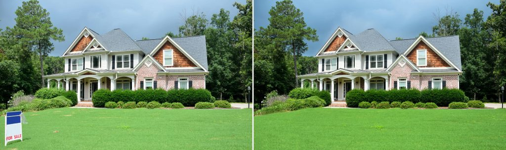 Unwanted object removal in real estate photo